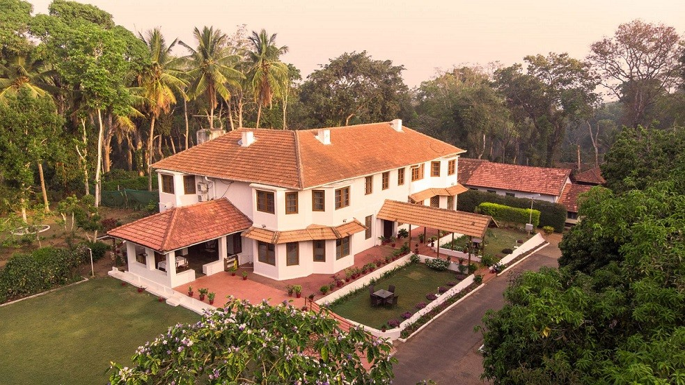 Aerial View of Bungalow in Coorg, Taneerhulla Bungalow