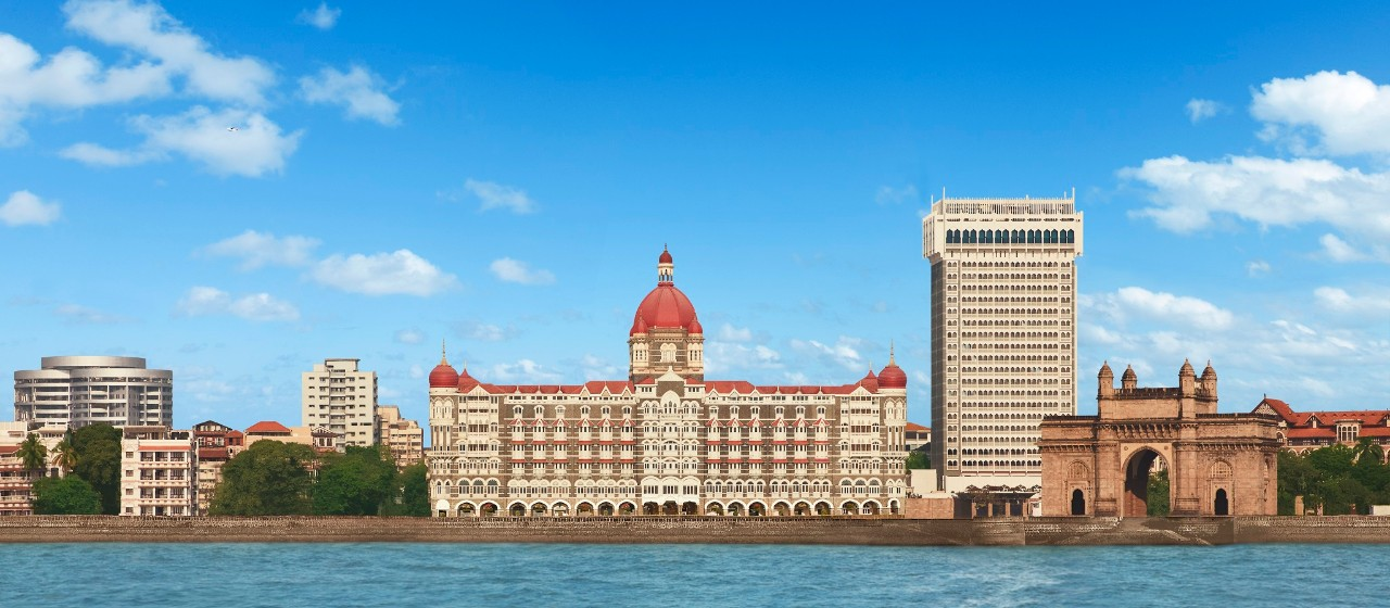Taj Mahal Tower & Taj Mahal Palace View from Arabian Sea