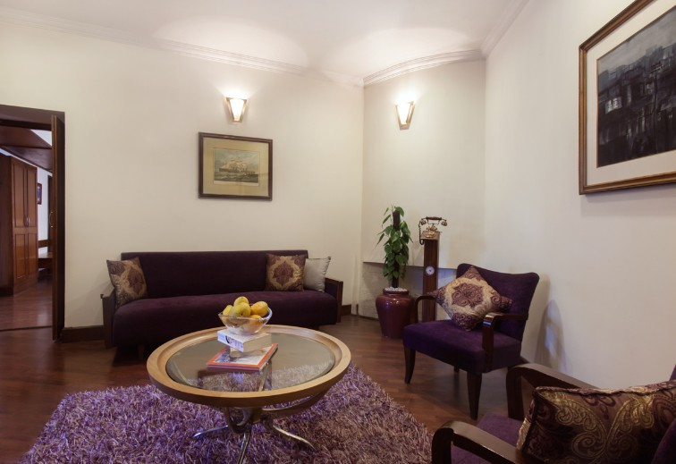 Living Room at Deluxe Suite at Ambassador, New Delhi-IHCL SeleQtions